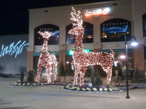 Giant reindeer at King of Prussia Mall in Pennsylvania