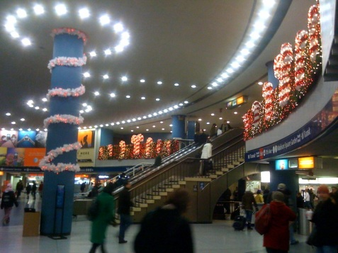 Decorations in New York Penn Station