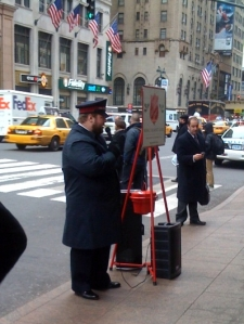 The singing Salvation Army guy