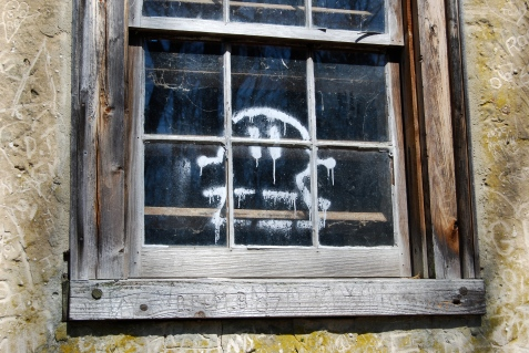 Window graffiti in Batsto, NJ