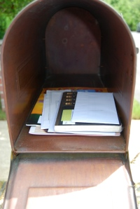 The journal back home safe in my mailbox