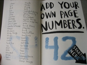 Page numbering (not starting at one- where would the fun be in that?)