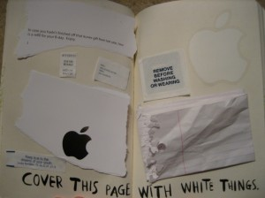 Cover this page with white things