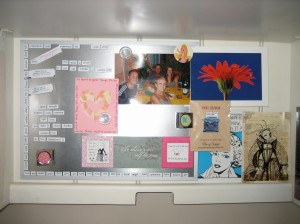 My bulletin board after the clean-up