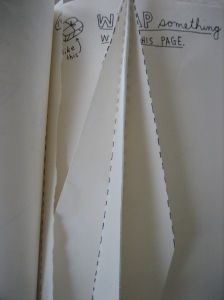 Folded a paper airplane