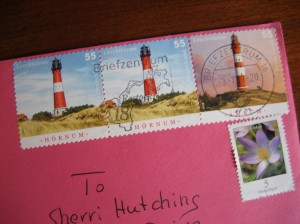 Stamps from LaWendula's letter to me