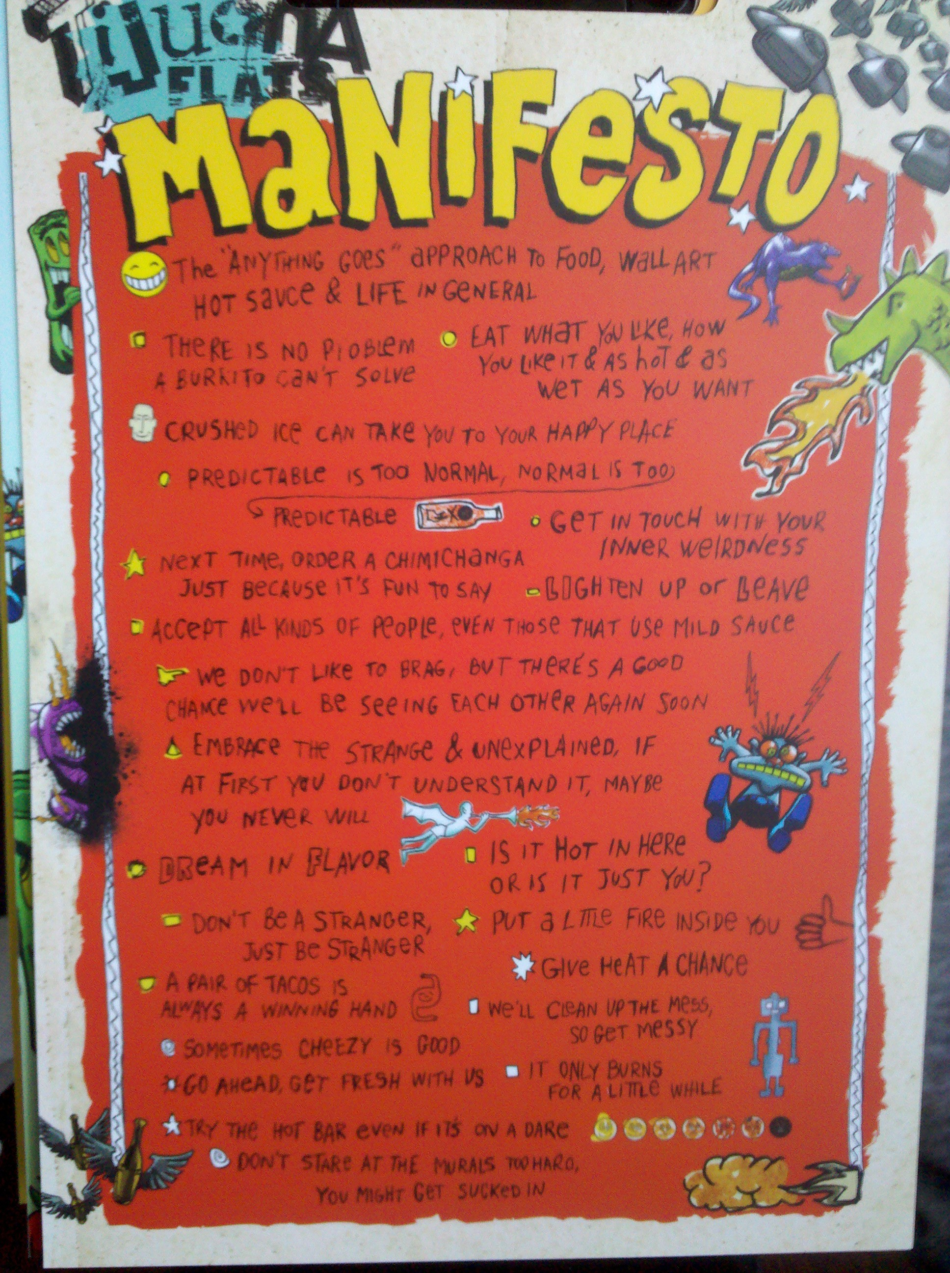 Tijuana Flats manifesto