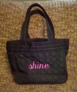 """""""shine"""" purse"""